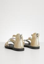 POP CANDY - Glitter gladiator flat sandal - gold