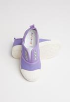 POP CANDY - Canvas slip on - mid purple