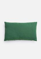 Hertex Fabrics - Ribbon trim cushion cover - jungle