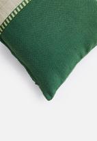 Hertex Fabrics - Ribbon trim cushion cover - green