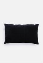 Hertex Fabrics - Ribbon trim cushion cover - black