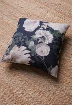 Grey Gardens - Garden cushion cover - black