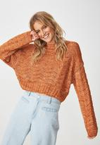 Cotton On - Cropped pointelle jersey - rust
