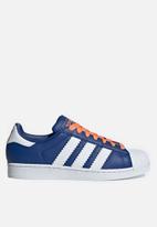 adidas Originals - Superstar - collegiate royal/white/easy orange