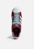 adidas Originals - Superstar - collegiate burgundy/white/ash grey