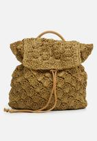 BLACKCHERRY - Woven backpack - brown
