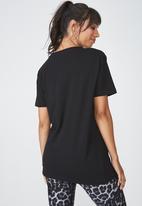 Cotton On - Boyfriend T-shirt - black