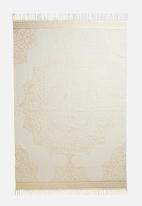 Sixth Floor - Nalani foil printed rug - gold