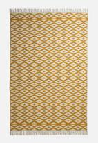 Sixth Floor - Linked woven rug - mustard