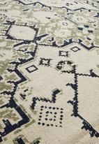 Sixth Floor - Mada printed rug - grey & black