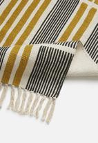 Sixth Floor - Sarisa printed runner - mustard & black