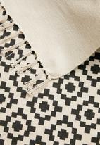 Sixth Floor - Hendesi printed rug - charcoal
