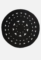 Sixth Floor - Fiore braided rug - black