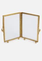 Sixth Floor - Nora photo frame - gold