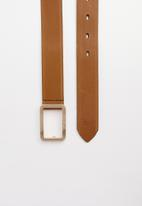 POLO - Leather Alice belt - tan