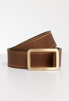 POLO - Leather Alice belt - brown