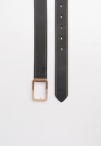 POLO - Leather Alice belt - black