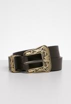 POLO - Leather Anabel belt - brown