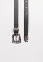 POLO - Leather Anabel belt - Black