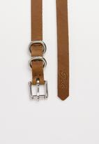 POLO - Leather Thelma and Louise belt twinpack - brown & black