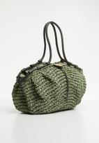 STYLE REPUBLIC - Woven tote bag - green