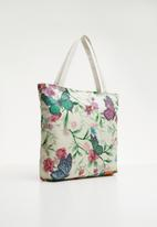 STYLE REPUBLIC - Butterfly print shopper bag - multi