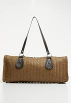 STYLE REPUBLIC - Woven tote bag - brown