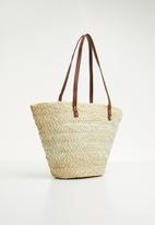 STYLE REPUBLIC - Woven shopper bag - beige