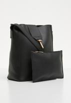 Superbalist - Lesha crossbody bag with clutch - black