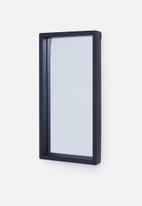 Sixth Floor - Metro rectangular mirror - black