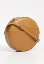 FSP Collection - Round caramel look bag - tan