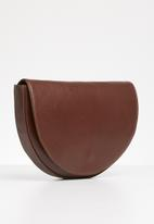 FSP Collection - Crescent chocolate look bag - brown