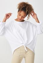 Cotton On - Shelly oversized top - white