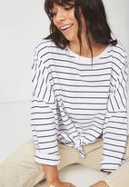 Cotton On - Shelly oversized top - black & white