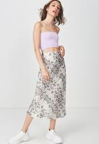 Cotton On - Samantha seam free rib tube top - purple