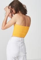 Cotton On - Samantha seam free rib tube top - mustard