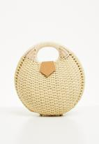 STYLE REPUBLIC - Woven straw bag - neutral