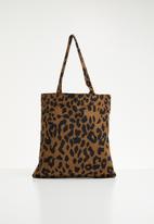 Superbalist - Leopard print tote bag - brown & black