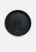Present Time - Mr. Black wall clock - steel polished