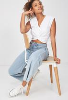 Cotton On - Lara knot front top - white