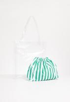 Superbalist - Francia clear shopper bag - white & green
