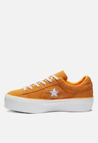 Converse - One Star Platform Ox - field orange/white/white