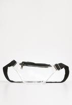 Superbalist - Halle clear waist bag - clear & black