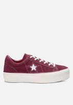 Converse - One Star Platform Ox - rhubarb/white/white