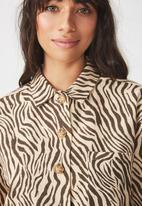 Cotton On - Meg shirt - beige & brown