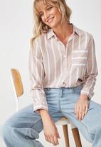 Cotton On - Casual Rebecca shirt - white & beige