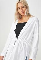 Cotton On - Mila long sleeve cardigan - white