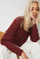 Cotton On - Luxe cropped cardigan - burgundy