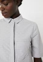 AMANDA LAIRD CHERRY - Zandile curved seam tunic - grey