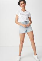 Cotton On - Tbar fox graphic tee amour - white